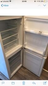 Fridge freezer white 5 ft high very good condition from curry's