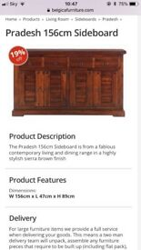 Dark stained wooden sideboard from Pardesh range at Belgica furniture