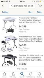Portable nail technicians desk