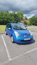 Blue Nissan Note 1.4 2008 50,000 miles