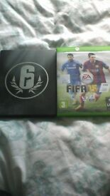 Xbox one rainbows x siege and fifa 15 games for sale