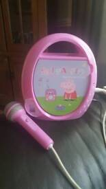 Peppa pig karaoke player