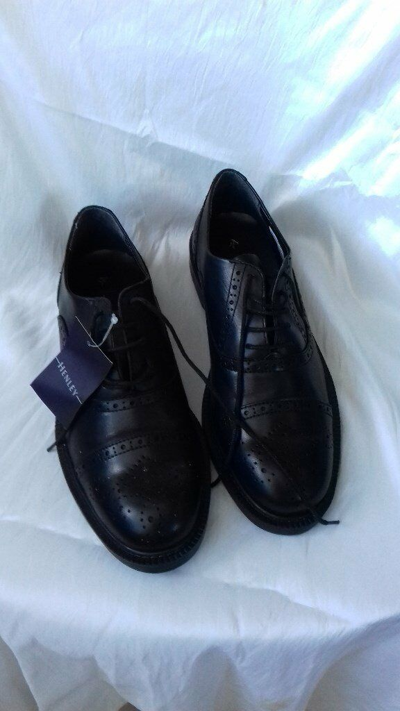 Mens black brogue shoes