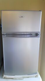 Undercounter silver Fridge Freezer slightly marked Ex display