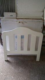 Mamas and papas white cot bed