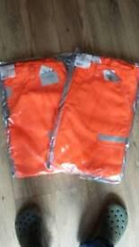 New Hi Vis Trousers 2 pairs
