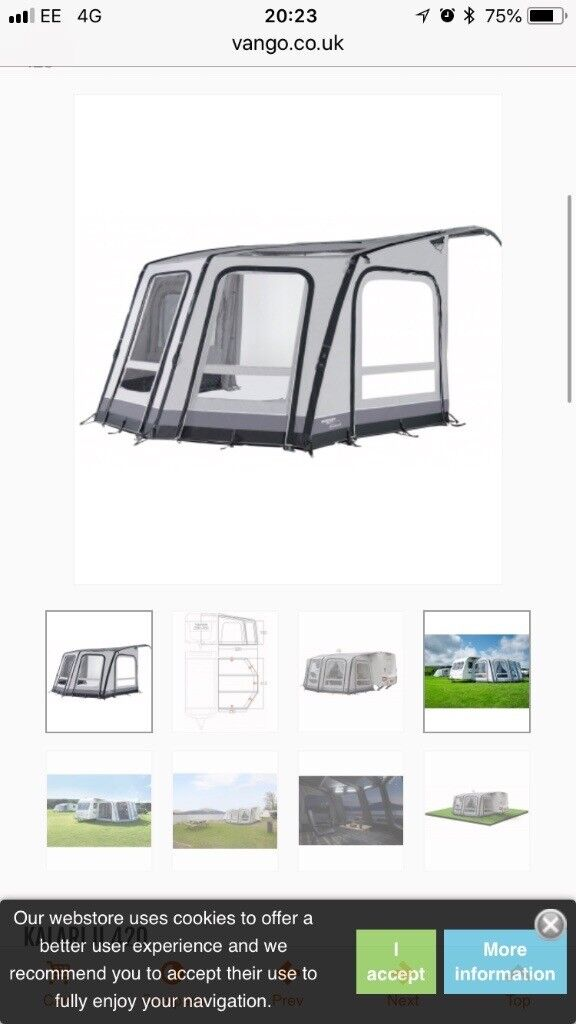 Vango Airbeam Awning For Sale New Still Boxed In Keswick Cumbria