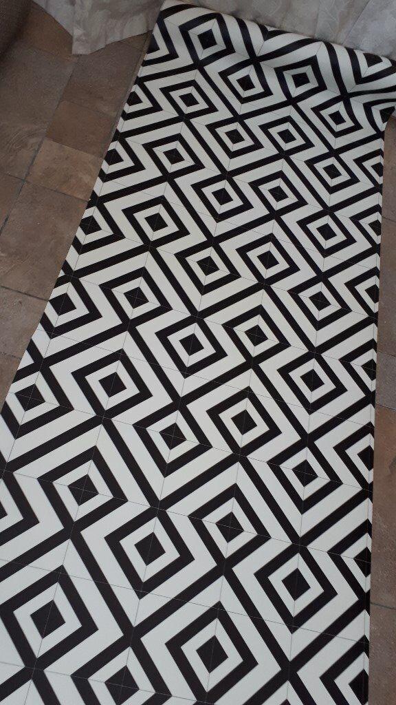 Vinyl Flooring Off Cuts 180x83cm 200x90cm Black White Tile Effect In Sedgefield County Durham Gumtree
