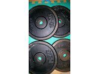 4x10kg metal weight plates 40kg