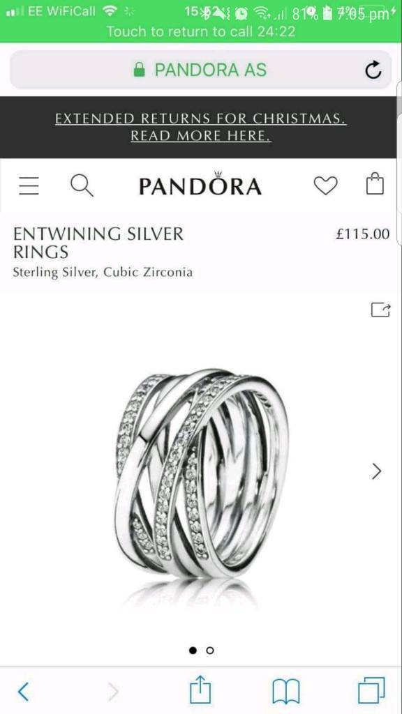 9459acc2f PANDORA ring size 58 in box and bag | in Pontypridd, Rhondda ...