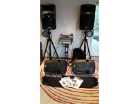 Complete PA System ... Speakers - Mixing Desk - Monitors - Stands - LED Stagelights