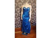 Beautiful blue satin formal dress. Size 6-8-10