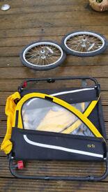 Adventure S1 two-seater child's bike trailer