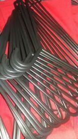 Coat Clothes Hangers Black Plastic