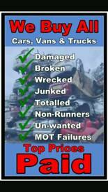Free 24 hour scrap car van motorbike uplifts