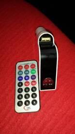 FM transmitter for car stereo phone