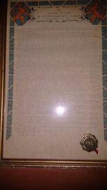 Framed history of the surname urmston