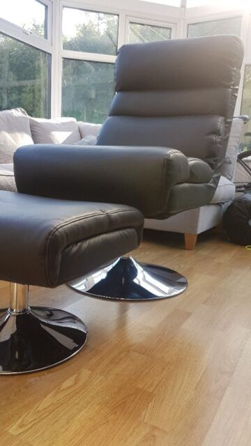 Fantastic Argos Home Costa Leather Effect Swivel Chair Footstool Black In Gateshead Tyne And Wear Gumtree Gamerscity Chair Design For Home Gamerscityorg