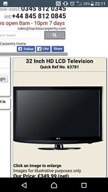 """LG TV FOR SALE QUICK SALE 32"""" 2 OR 3 HDMI PERFECT WORKING ORDER"""