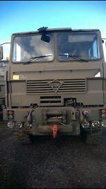 Foden 6x6 winching and crane unit