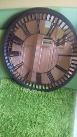 Large clock face mirror