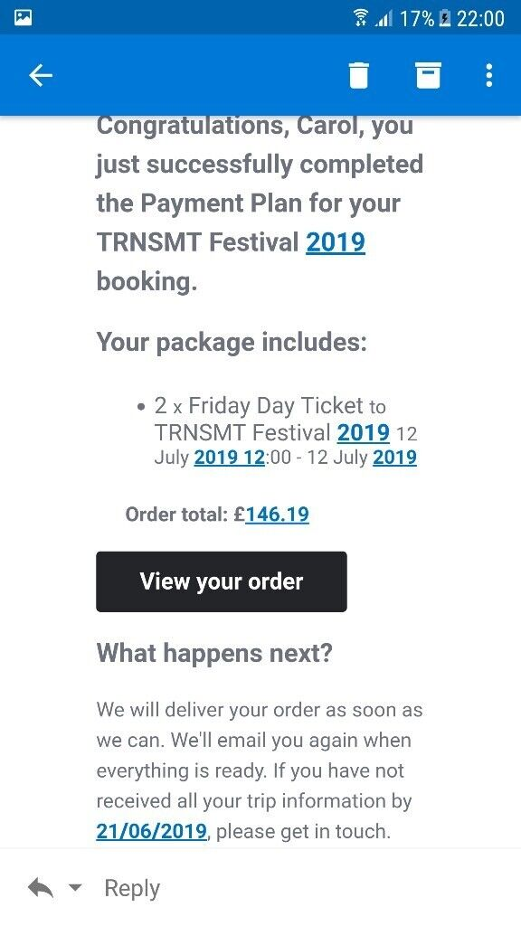 2 x trnsmt tickets | in Whiteinch, Glasgow | Gumtree