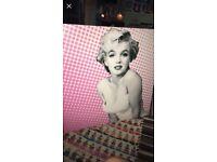 Marilyn Monroe giant canvas