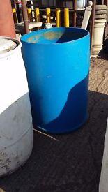45 gallon plastic drums x 3