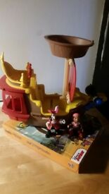 Jake & the Neverland Pirates ship and the 'my busy book' with all the small characters