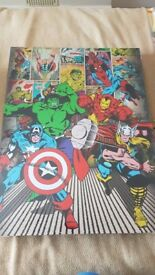 Marvel superhero and DC comic Batman Canvas Prints