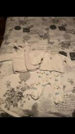 M&S 3 piece baby outfit