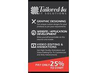 Cheap Website & App development/Graphic designing/Video animation/web developer & designers