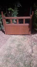 Wooden gate 47.5 inch wide x 33 high