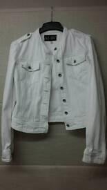 White Armani denim jacket