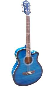 Acoustic Guitar 40 inch for Beginners Blue iMusic955