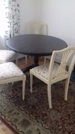 table and four chairs, can be sold separately