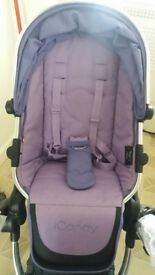 Icandy peach 2 lower seat with rain cover