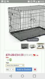 """New black 30"""" large dog crate -cage puppy pr house rabbit cage bargain"""