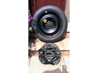 Ford Focus spare tyre and jack
