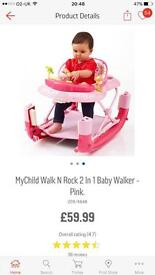 Pink My Child Baby Walker/Rocker *Never Used in Box*
