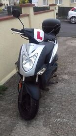 Kymco Agility 50 scooter moped (2015) under 3000 miles, recent service, security chain, one owner.