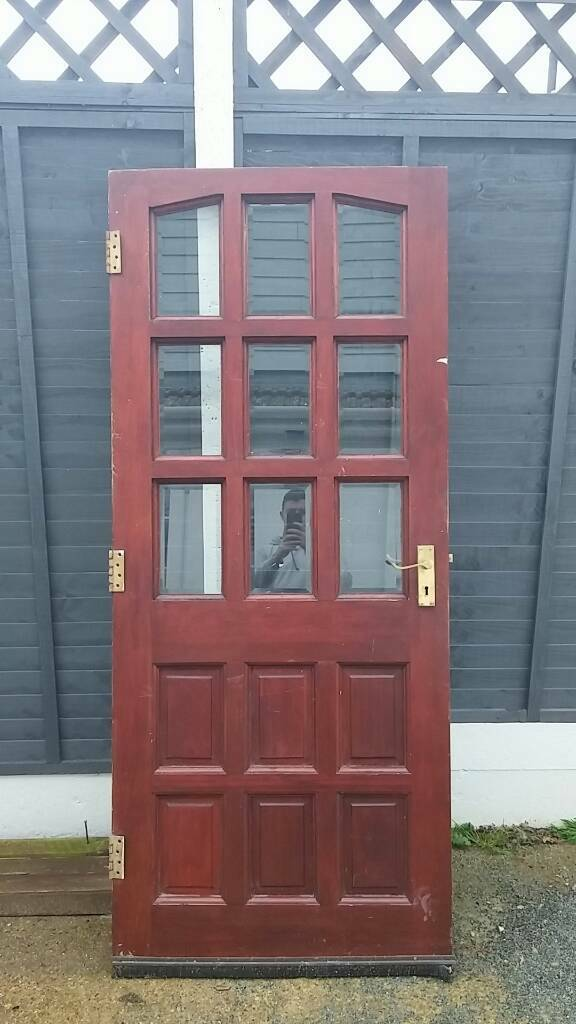 Solid wood front door