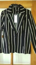 Womens pinstripe jacket from boohoo. Size 12. New with tags.