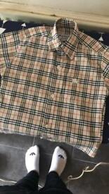 Child's aged 4 Burberry shirt and diesel jeans set.