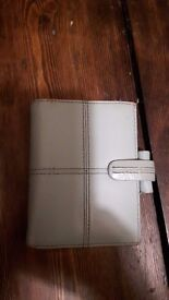 Pocket Filofax in Pale Blue Leather