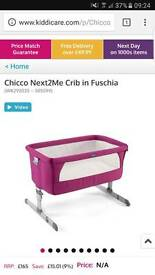 Fuschia pink chicco next2me crib