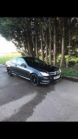 Mercedes-Benz C Class C220D AMG Coupe Blue-Efficiency