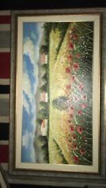 3x large italian oil paintings