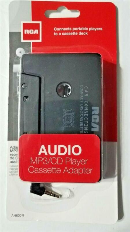 RCA Cassette Adapter for MP3 / IPOD / CD Player Audio to Car Stereo Tape Deck