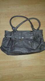 Ladies Grey croc print Wallis handbag